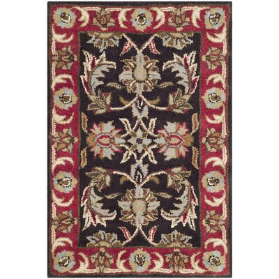 Cranmore Chocolate/Red Area Rug Rug Size: Rectangle 76 x 96
