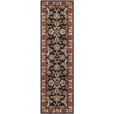 Cranmore Chocolate/Red Area Rug Rug Size: Runner 23 x 12