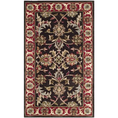 Cranmore Chocolate/Red Area Rug Rug Size: 3 x 5