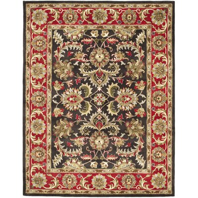 Cranmore Chocolate/Red Area Rug Rug Size: 6 x 9