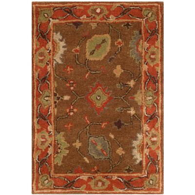 Cranmore Moss/Rust Area Rug Rug Size: 2 x 3