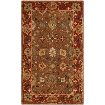 Cranmore Moss/Rust Area Rug Rug Size: 3 x 5