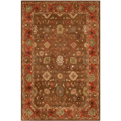 Cranmore Moss/Rust Area Rug Rug Size: 4 x 6