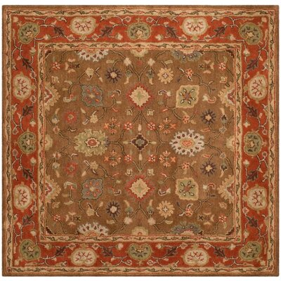 Cranmore Moss/Rust Area Rug Rug Size: Square 6