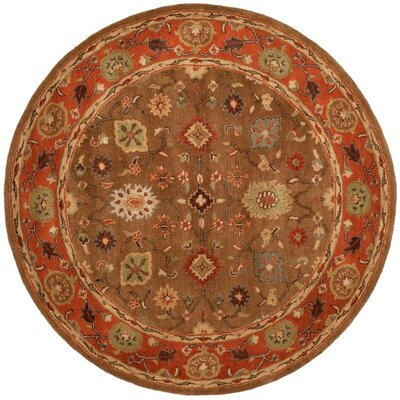 Cranmore Moss/Rust Area Rug Rug Size: Round 36