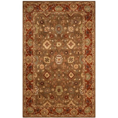 Cranmore Moss/Rust Area Rug Rug Size: 5 x 8