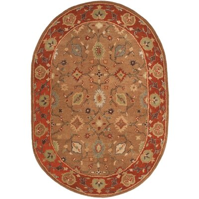 Cranmore Moss/Rust Area Rug Rug Size: Oval 46 x 66
