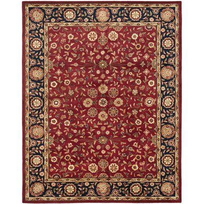Cranmore Red/Black Floral Area Rug Rug Size: Rectangle 9 x 12