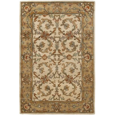Cranmore Beige/Gold Area Rug Rug Size: 5 x 8