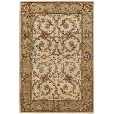 Cranmore Beige/Gold Area Rug Rug Size: 4' x 6'