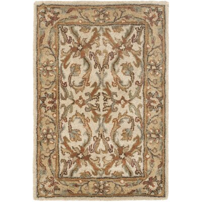 Cranmore Beige/Gold Area Rug Rug Size: 2 x 3