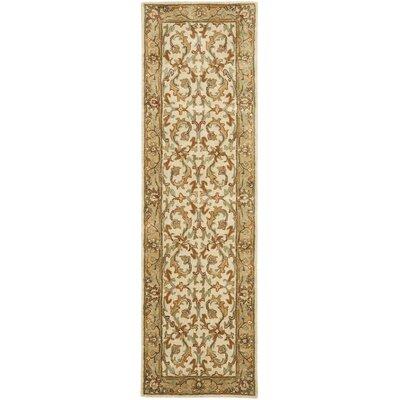 Cranmore Beige/Gold Area Rug Rug Size: Runner 23 x 12