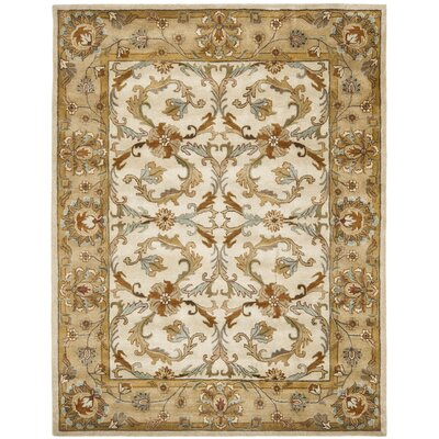 Cranmore Beige/Gold Area Rug Rug Size: Rectangle 2 x 3