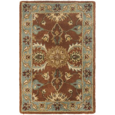 Cranmore Brown & Blue Area Rug Rug Size: Rectangle 4 x 6