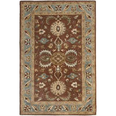 Cranmore Brown & Blue Area Rug Rug Size: 4 x 6