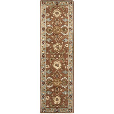 Cranmore Brown & Blue Area Rug Rug Size: Runner 23 x 14