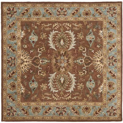 Cranmore Brown & Blue Area Rug Rug Size: Square 6