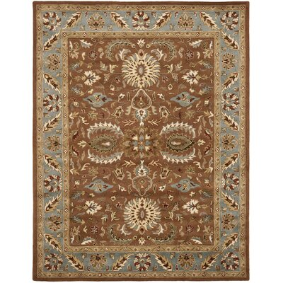 Cranmore Brown & Blue Area Rug Rug Size: 96 x 136
