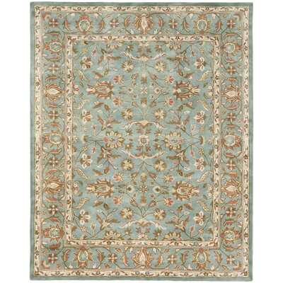Cranmore Hand-Woven Wool Blue Area Rug Rug Size: Rectangle 5 x 8