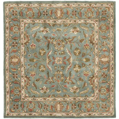 Cranmore Hand-Woven Wool Blue Area Rug Rug Size: Square 6