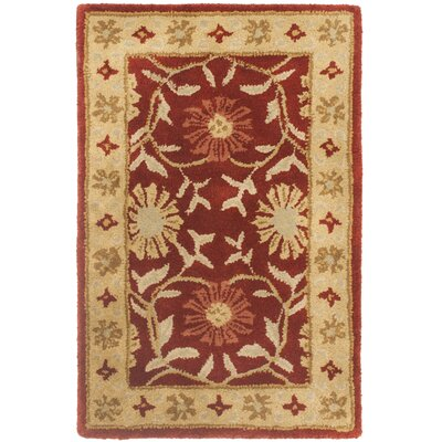 Cranmore Red/Beige Floral Area Rug Rug Size: 2 x 3