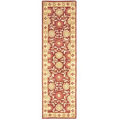 Cranmore Red/Beige Floral Area Rug Rug Size: Runner 23 x 14