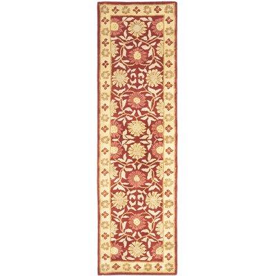 Cranmore Red/Beige Floral Area Rug Rug Size: Runner 23 x 8