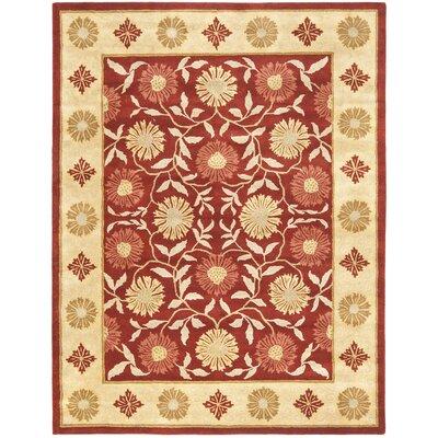 Cranmore Red/Beige Floral Area Rug Rug Size: 5 x 8