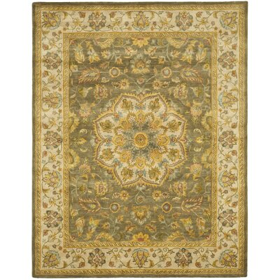 Cranmore Green/Taupe Area Rug Rug Size: 12 x 15