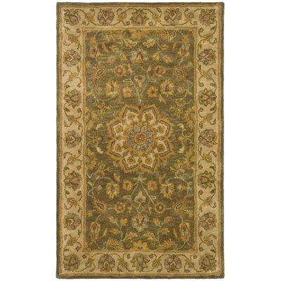 Cranmore Green/Taupe Area Rug Rug Size: Rectangle 12 x 18