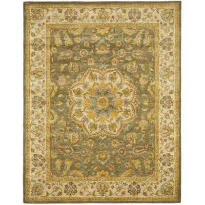 Cranmore Green/Taupe Area Rug Rug Size: 76 x 96