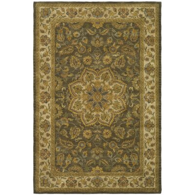 Cranmore Green/Taupe Area Rug Rug Size: 6 x 9