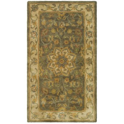 Cranmore Green/Taupe Area Rug Rug Size: 2 x 3
