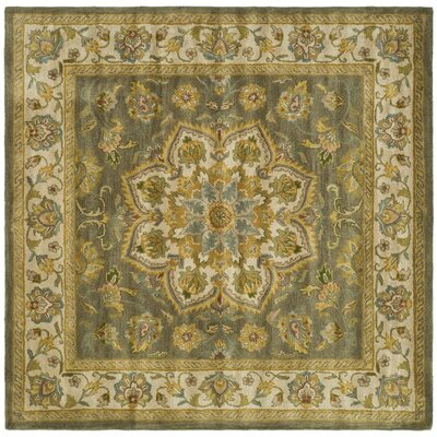 Cranmore Green/Taupe Area Rug Rug Size: Square 6