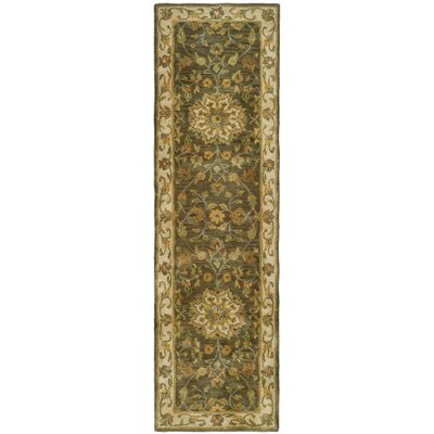 Cranmore Green/Taupe Area Rug Rug Size: Runner 23 x 16