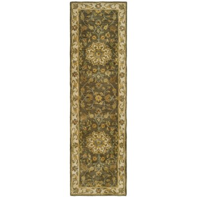 Cranmore Green/Taupe Area Rug Rug Size: Runner 23 x 14