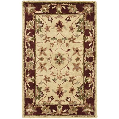 Cranmore Ivory/Red Area Rug Rug Size: 2 x 3