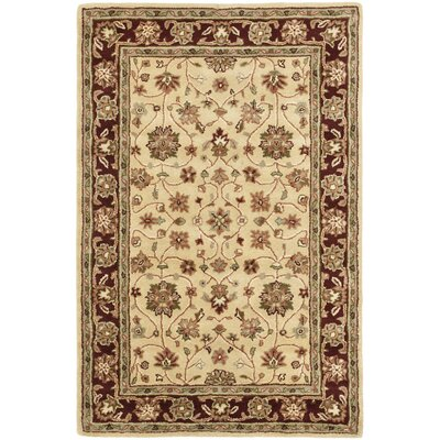 Cranmore Ivory/Red Area Rug Rug Size: 4 x 6
