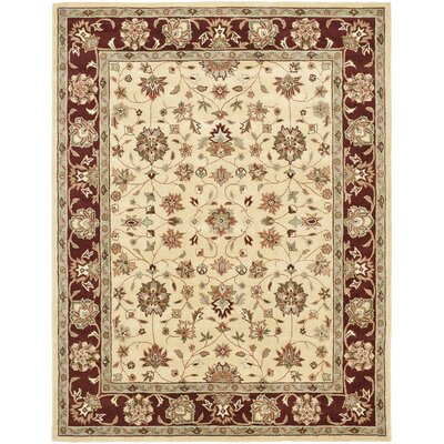 Cranmore Ivory/Red Area Rug Rug Size: Rectangle 2' x 3'