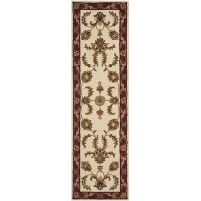 Cranmore Ivory/Red Floral Area Rug Rug Size: Runner 23 x 8