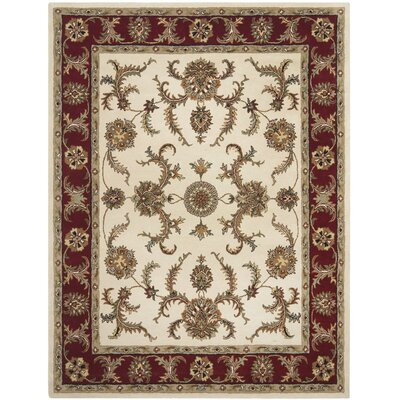 Cranmore Ivory/Red Floral Area Rug Rug Size: 5 x 8