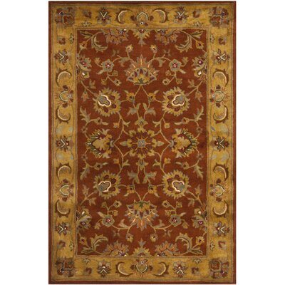 Cranmore Red/Natural Rug Rug Size: Rectangle 4 x 6