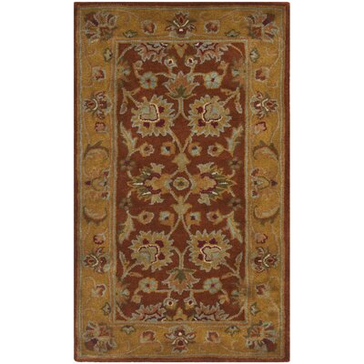 Cranmore Red/Natural Rug Rug Size: Rectangle 23 x 4