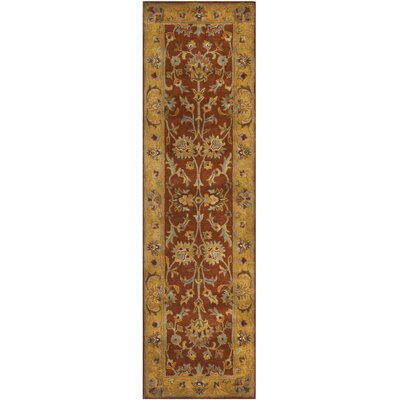 Cranmore Red/Natural Rug Rug Size: Runner 23 x 8