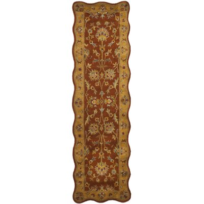 Cranmore Red/Natural Rug Rug Size: Novelty Runner 23 x 8