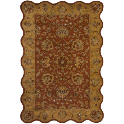 Cranmore Red/Natural Rug Rug Size: Novelty 6 x 9