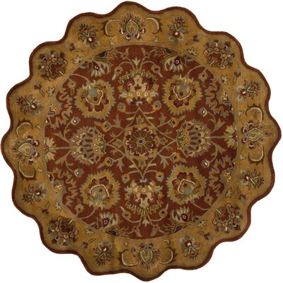 Cranmore Red/Natural Rug Rug Size: Novelty Round 6