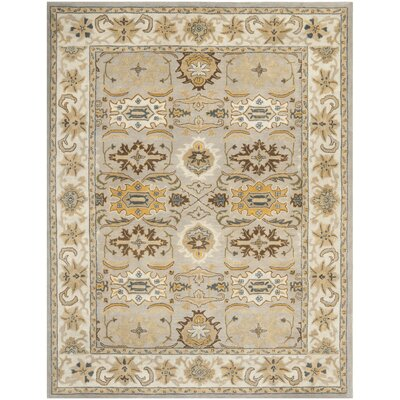 Cranmore Light Grey/Grey Area Rug Rug Size: 76 x 96
