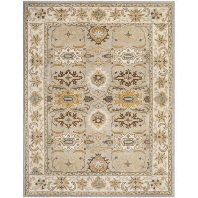 Cranmore Light Grey/Grey Area Rug Rug Size: 96 x 136
