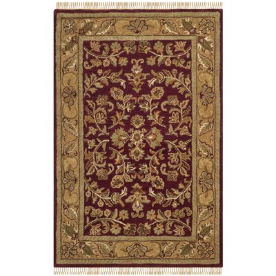 Cranmore Red/Gold Area Rug Rug Size: Rectangle 3 x 5